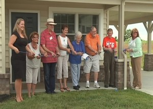 Apartment Dedication and ribbon cutting ceremony at Jacob's Village